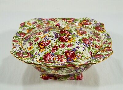 $ CDN12.03 • Buy Royal Winton Grimwades Summertime 1995 Chintz Earthenware Covered Vegetable Bowl