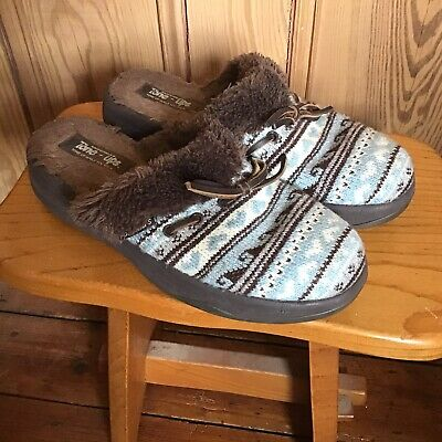 Skechers Tone Ups Slippers Uk 8 Eu 41 Mules Comfort Slip On Flats Brown Knitted • 10.10£