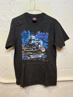 $ CDN42.66 • Buy Vintage 90s Harley-Davidson Men's Sz L Proud & Fearless Wolf Eagle T-Shirt