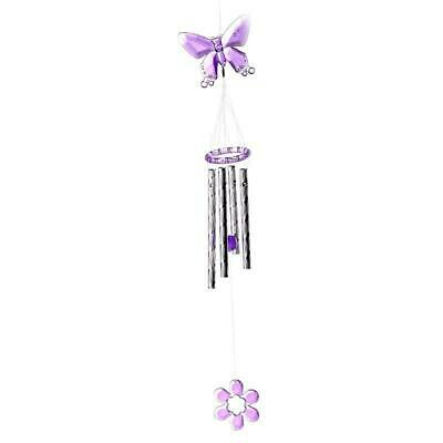 Butterfly 4 Tube Wind Chime Garden Ornament Gifts Hanging Living Room Yard Decor • 2.69£