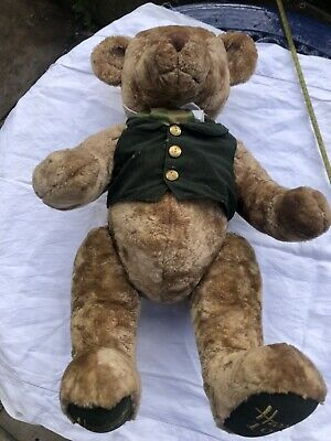 HARRODS Limited Edition 150-Year Anniversary Commemorative Teddy Bear 1849-1999 • 18£