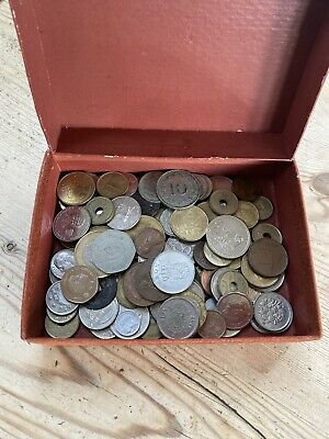 Box Of English And Foreign Coins • 5£