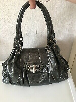 Russell And Bromley Green Patent Leather Bag • 20£