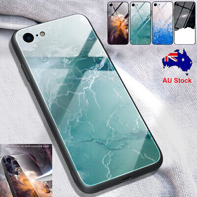 AU11.92 • Buy For IPhone SE 2020 8 7 4.7 Inch Case Hard Marble Tempered Glass Shockproof Cover