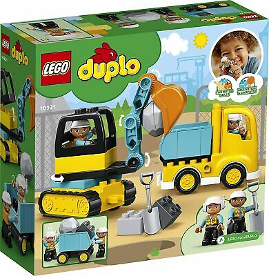 AU38.99 • Buy KIDS Gifts LEGO DUPLO Truck And Tracked Excavator Building Kit Toy Boy Girl Xmas