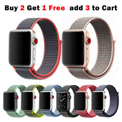 AU6.99 • Buy Sport Nylon Woven Loop Strap IWatch Band For Apple Watch Series 6 5 4 3 21 40 44