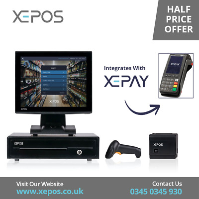 £149 • Buy 12in Touch Screen EPOS POS Cash Register Till System For Hotels/Hospitality