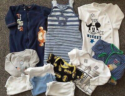 Baby Boys Sleepbag, 4 Sleepsuits, 6 Vests 3-6 Months Excellent Condition  • 0.99£
