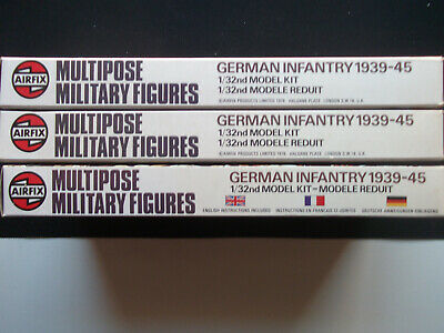 Airfix Multipose 2 Boxes Of German Infantry(europe) & Spares. • 14£