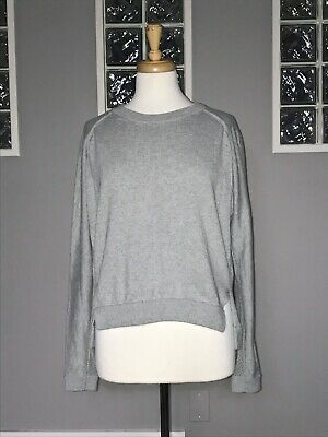 $ CDN70.20 • Buy Lululemon Bhakti Life Sweater 10 Heathered Medium Gray Knit Long Sleeve Pullover