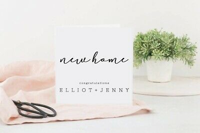 Personalised New Home Card. Good Luck, Housewarming, House Moving First 1st Home • 3£