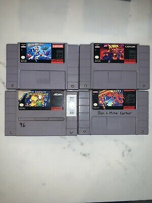 $ CDN118.64 • Buy Super Nintendo SNES Game Lot (X-Men, Barts, Mega Man, Metroid) **Tested, Works**