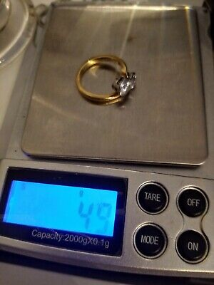 Antique 18ct Gold  Ring With 2 Stones Unknown Hallmarked 18k 4.9 Grams • 260£