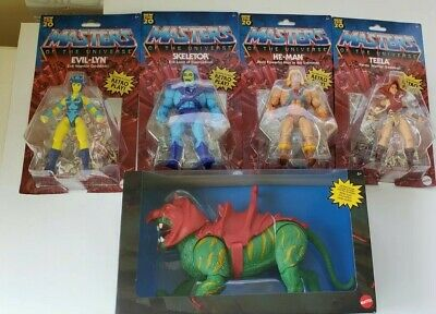 $150 • Buy Masters Of The Universe Origins Set Of 4 Plus Battlecat  5.5  MOTU Retro Play