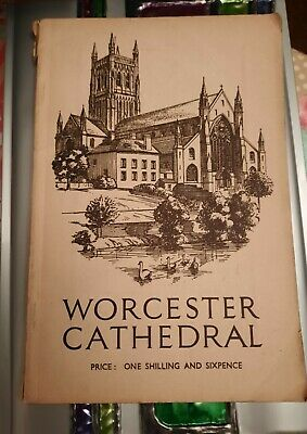 Vintage Collectable Worcester Cathedral Guide Book 1948 Illustrated • 6.99£