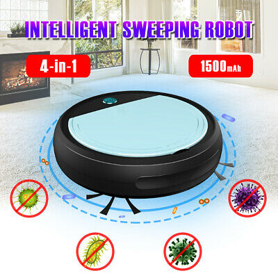 4 In 1 Vacuum Cleaner Smart Floor Sweeping Robot Automatic Clean UV Sterilizer • 20.57£