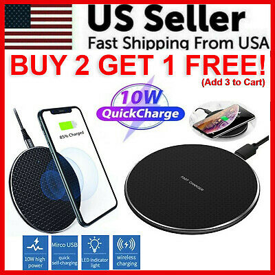 $ CDN9.38 • Buy Qi Wireless Fast Charger Charging Pad Dock For IPhone Samsung Android Cell Phone