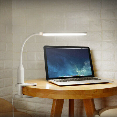 Clip On Flexible Clamp Reading LED USB Light Touch Table Desk Night Lamp Bedroom • 10.43£