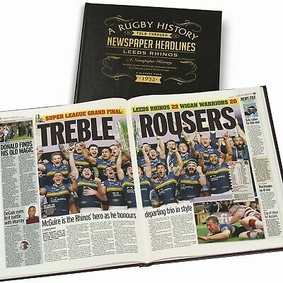 Leather Cover A3 Rugby League Newspaper Book • 65.95£