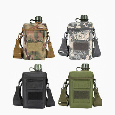 AU49.99 • Buy Large Capacity Tactical Water Bottle 2L Molle Outdoor With Bag Shoulder Strap