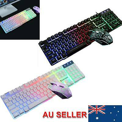 AU18.79 • Buy Rainbow  Keyboard Mouse Set For PS4  PS3 Xbox One And Xbox 360 Gaming Backlight