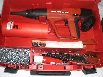 Hilti Dx A40 Nail Gun & Loads Of Accessories In Mint Condition *barely Used* • 89.99£