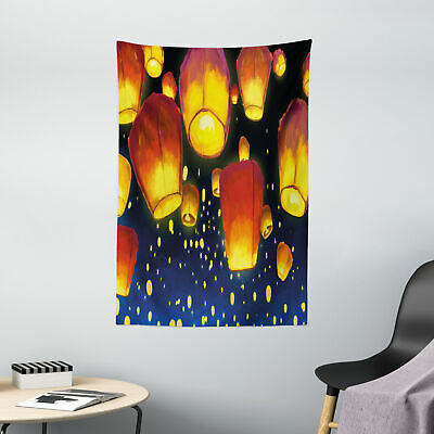 Lantern Tapestry Floating Fanoos Chinese • 27.99£