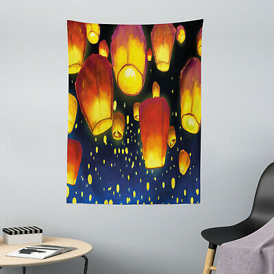 Lantern Microfiber Tapestry Floating Fanoos Chinese • 19.99£