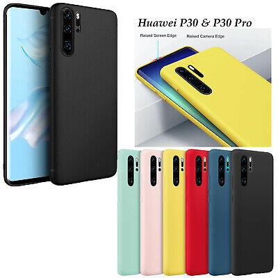 Slim Soft Matte Silicone Gel Back Case Cover For Huawei P30  & P30 Pro • 3.29£