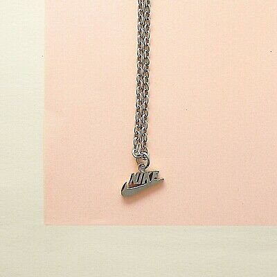 Silver Stainless Steel Nike Logo Chain Necklace & Nike Swoosh Check Tick Pendant • 17.99£