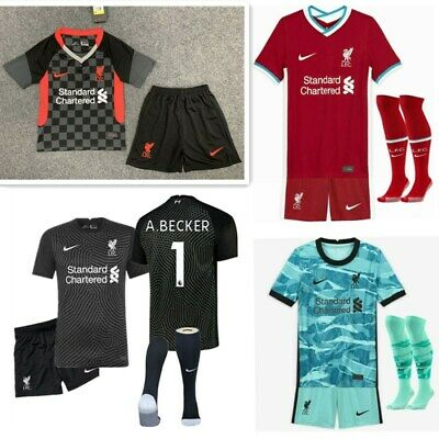 20-21 Football Club Full Kit Kids Boys Youth Soccer Jersey Strip Training Suits • 14.88£
