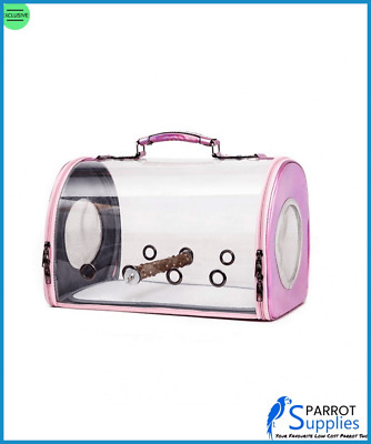 Bird Travel Bag, Parrot Carrier Cage - Pink • 18.99£