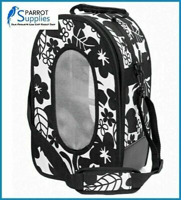 Adventure Bound Parrot Bird Travel Cage Bag Small - Black • 18.99£