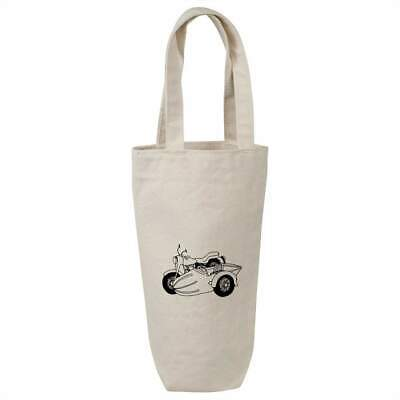'Motorcycle Side Car' Cotton Wine Bottle Gift / Travel Bag (BL00005351) • 7.99£