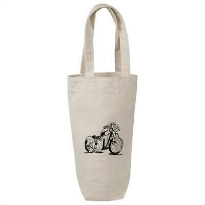 'Motorcycle' Cotton Wine Bottle Gift / Travel Bag (BL00007000) • 7.99£
