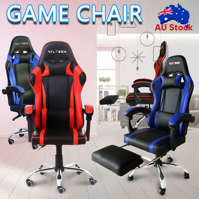 AU126.79 • Buy Gaming Chair Office Executive Computer Game Chairs Seating Racing Recliner NEW