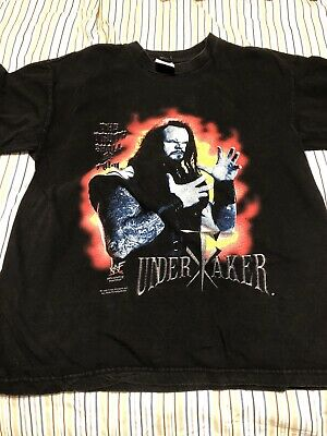 $ CDN100.18 • Buy Vintage 1998 Undertaker WWF WWE Large T-Shirt