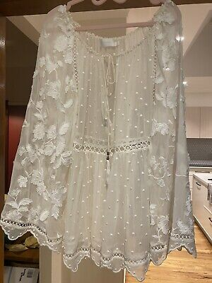 AU180 • Buy Zimmermann Rare Silk Blouse Top Size 1. Perfect Condition