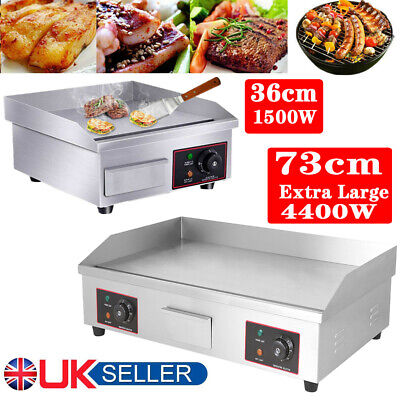 £88.98 • Buy Electric Griddle Kitchen Flat Hot Plate BBQ Grill Bacon Large Countertop Plancha