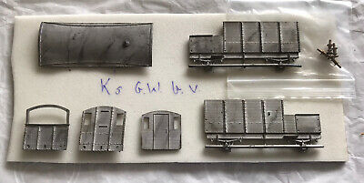 00 Gauge / 4mm Scale K's GWR Brake Van White Metal Kit. • 5£