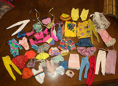 $ CDN14 • Buy Huge Lot Of Vintage 80's Barbie & Ken Doll Clothes Swimsuits, Lingerie & More