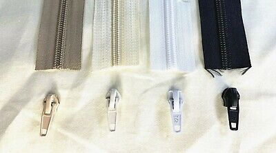 £2.99 • Buy Continuous Zip No.5 Zipper Chain + Sliders / Pulls Upholstery Dressmaking Sewing