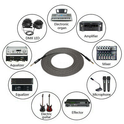 $ CDN31.48 • Buy 10m Guitar Amplifier Amp Cable Electric Patch Lead Cord Connecting Wir