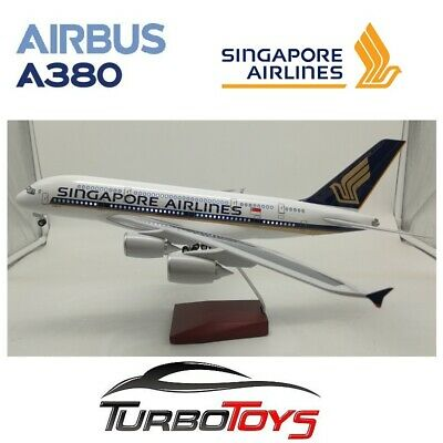 AU149.95 • Buy New- Airbus A380 Singapore Airlines 1/160 Large 46cm Resin Led Model With Stand