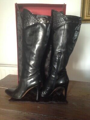Gucci Knee High Black Boots 38.5 • 40£