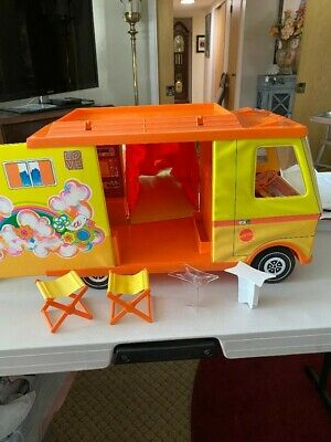 $10 • Buy 1971 Mattel Barbie Country Camper RV Van Pop Out With Parts & Accessories