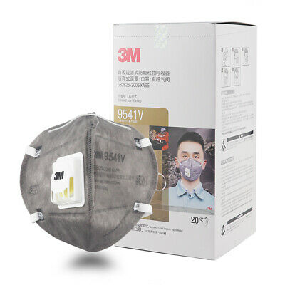 AU114.99 • Buy 20x 3M 9541V KN95 N95 P2 Activated Carbon Particulate Respirator Valve Face Mask