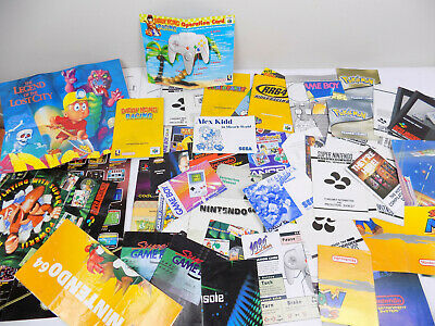 AU71.01 • Buy SNES N64 Gameboy Game Console Manual Bulk Lot - Mario Party - Diddy Kong Pokemon