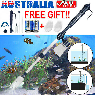 AU16.19 • Buy Aquarium Electric Siphon Pump Vacuum Cleaner Fish Tank Clean Water Change Gravel