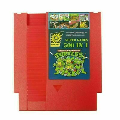 500 IN 1 Super Games Card Collection Cartridge For NES Classic NTSC PAL Consoles • 11.37£